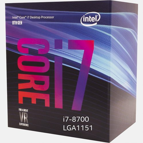 CPU Intel Core i7 8700 3.2Ghz Turbo Up to 4.6Ghz / 12MB / 6 Cores, 12 Threads / Socket 1151 v2